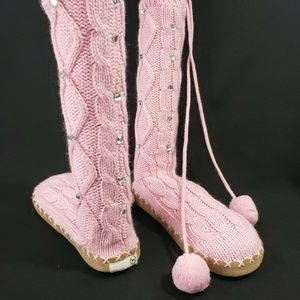 Victoria's Secret PINK Crochet Knit Sock Shoe Boot